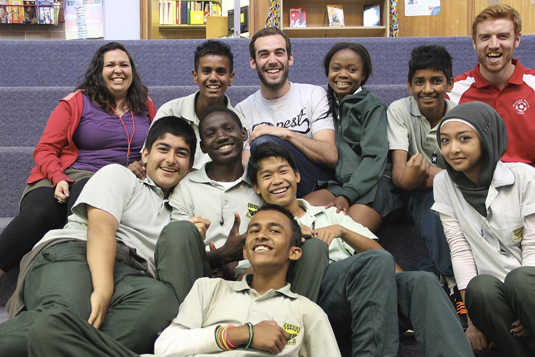 Photo from one of Mickey Kovari's Flashpoint Labs at Evans High School. Photo by Nana.
