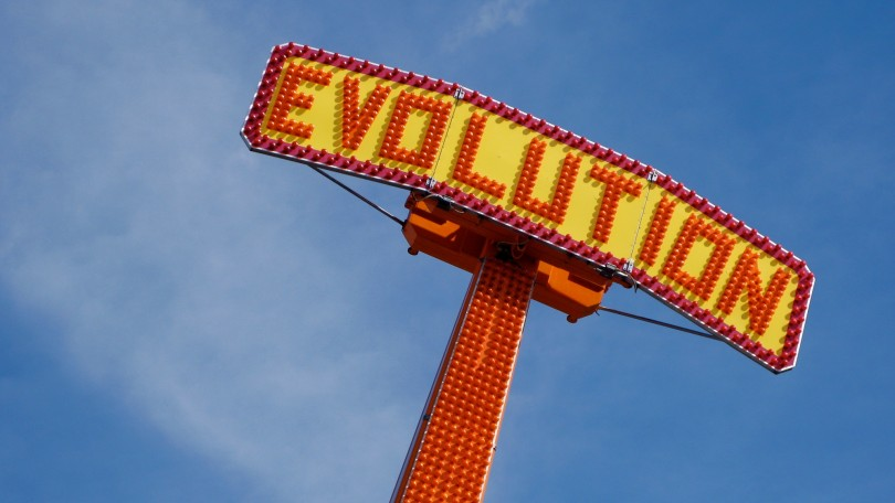 "Sign with words ""evolution"". Source: Kevin Dooley @ Flickr https://www.flickr.com/photos/pagedooley/1856663523/"